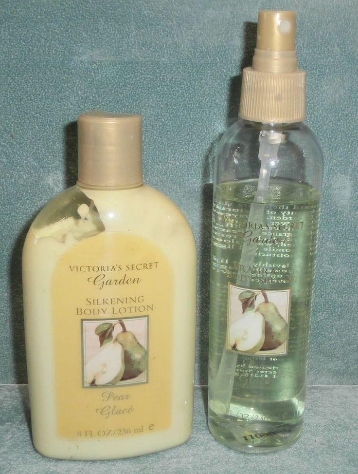 Victoria 39 S Secret Garden Pear Glace Silkening Body Lotion Splash Original Set Victoriassecret