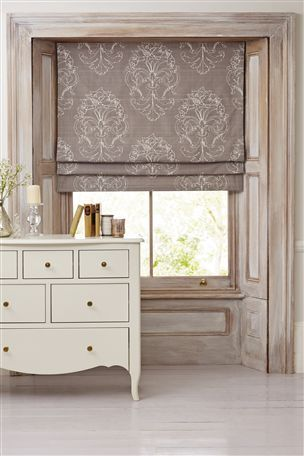 Buy Grey French Damask Printed Roman Blind from the Next UK online shop