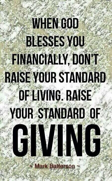 God is not against us having nice things, He wants to bless His children. But yes one of the main reasons we are blessed, is to be a blessing to others.