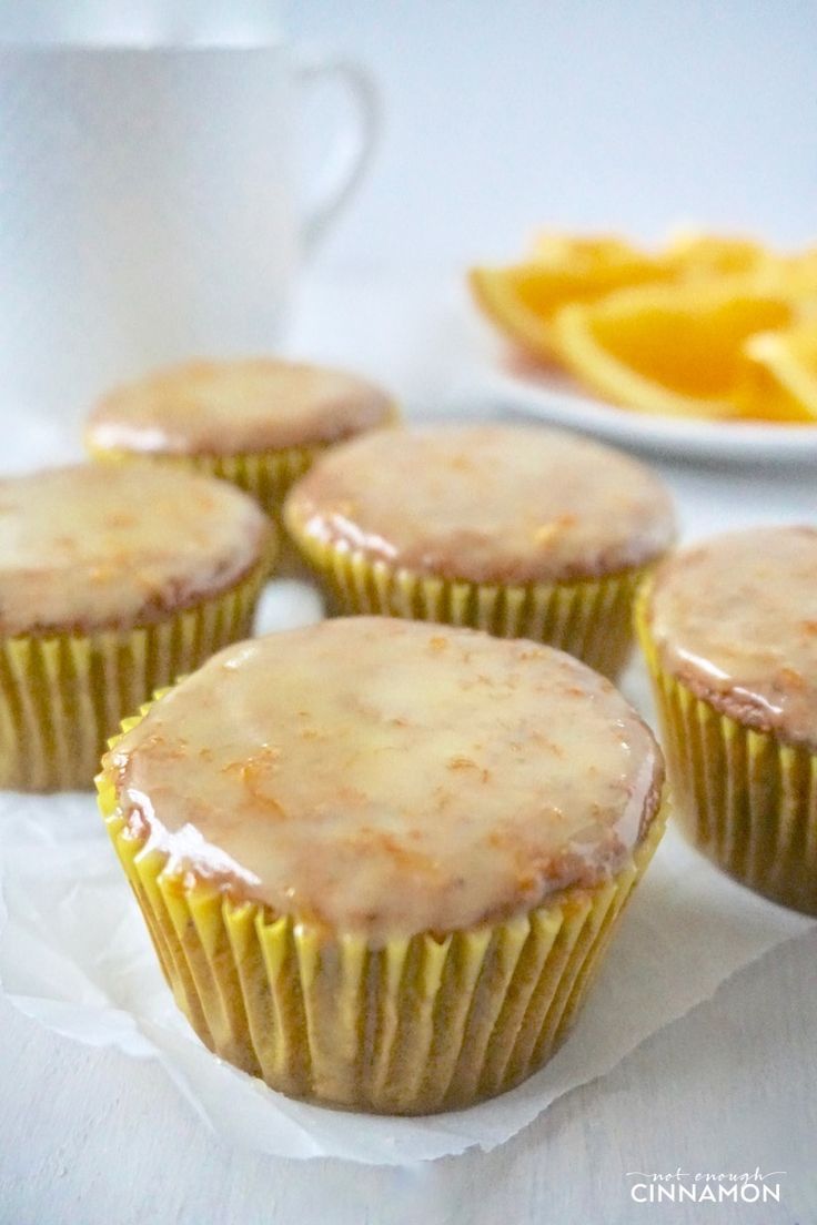 These healthy orange poppy seeds muffins are like a bite of sunshine! Gluten free and dairy. Perfect for breakfast or as a treat. Recipe on NotEnoughCinnamon.com