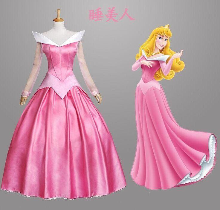 Aurora Princess Adult Pink Long Cosplay Dress Sleeping Beauty Costume Aurora Halloween Costumes for Women Fantasy Dress, $112.95   DHgate.com