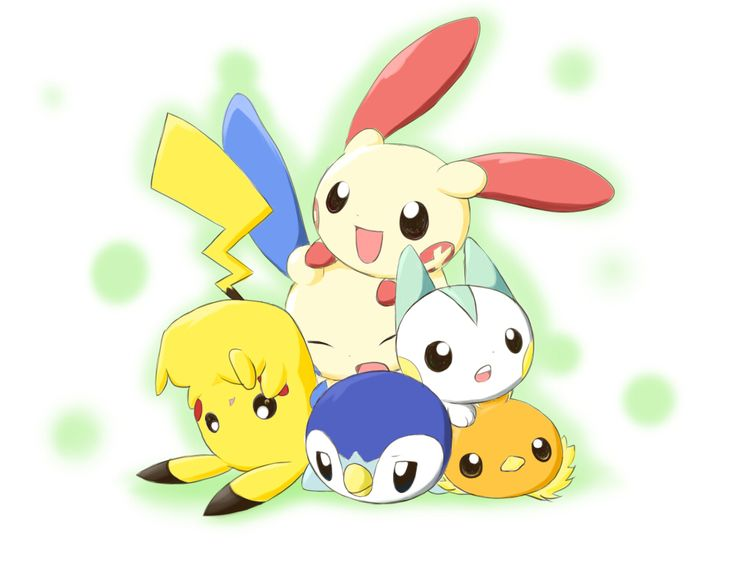The gallery for --> Plusle And Minun And Pichu