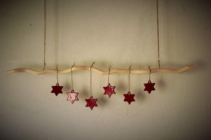 ... décoration murale idée guirlande de Noël  DIY  Pinterest