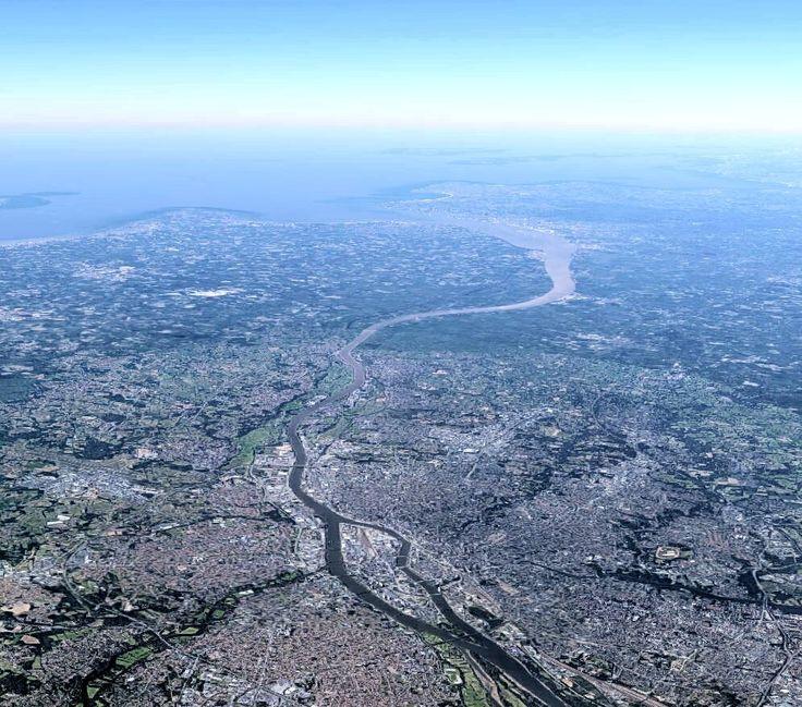 #Nantes Finalement, vu du ciel, l'océan n'est pas si loin :)
