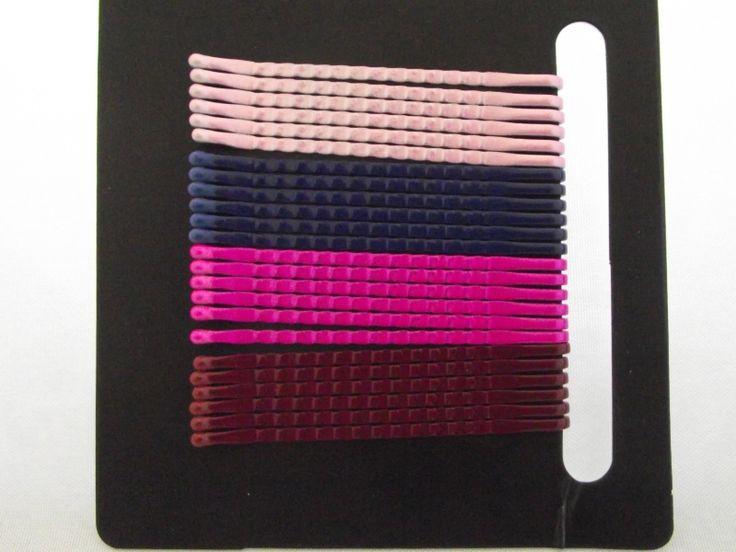 24 haar schuifjes in 4 kleuren  Maat : 4,5 CM Kleur : roze/paars/fuchia/bordeaux - € 0,89