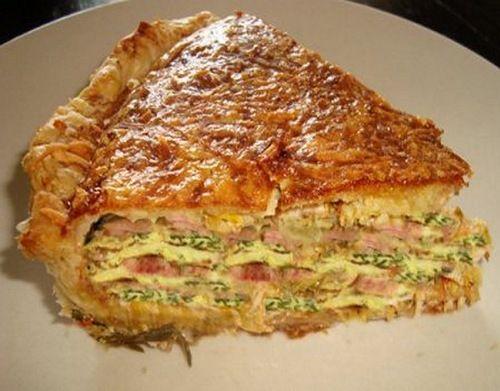 """Кулинарные рецепты: Слоеный пирог """"Галета"""""""