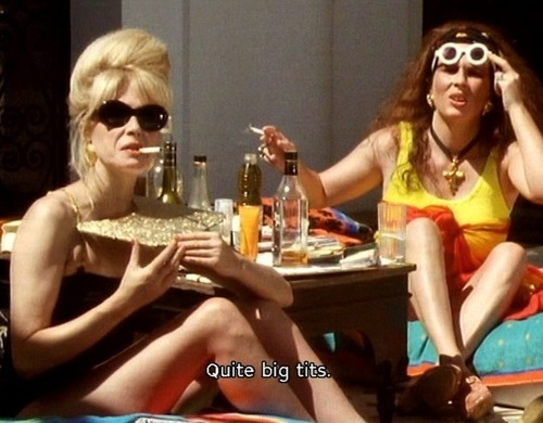 Joanna Lumley and Jennifer Saunders in Absolutely Fabulous