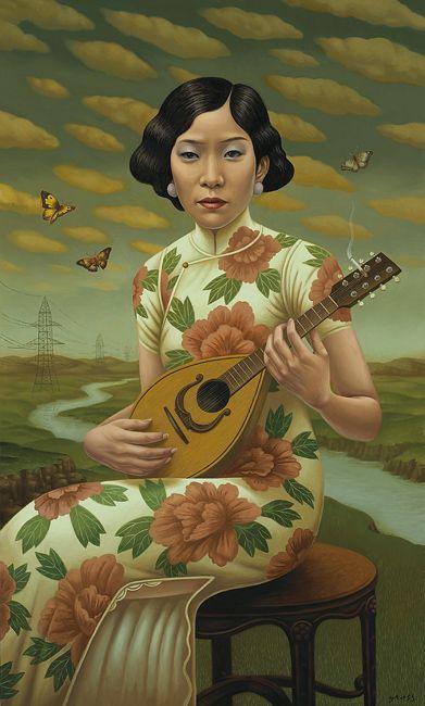 The Mandolin, Alex Gross illustrations representing diverse cultures