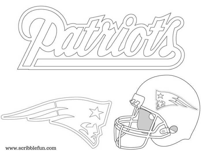 New England Patriots Coloring Pages Printable Coloring Pages