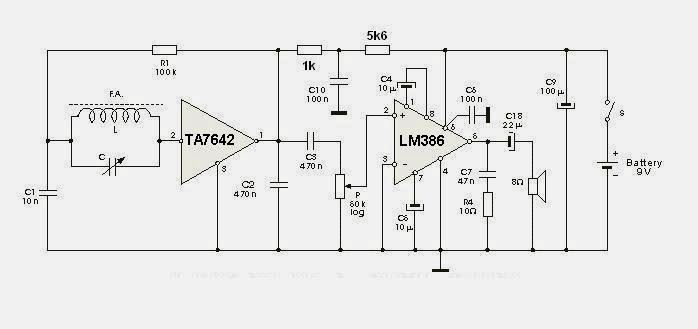 TA7642 AM Radio | Electronics in 2019 | Radio design
