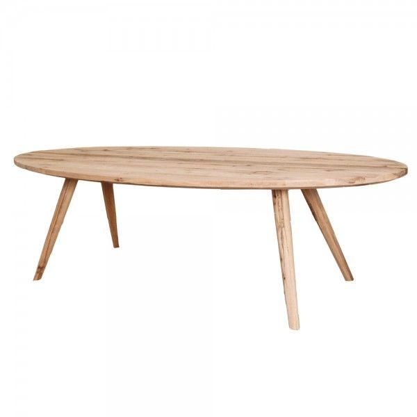 Moderner Esstisch Tisch oval Eiche Massiv