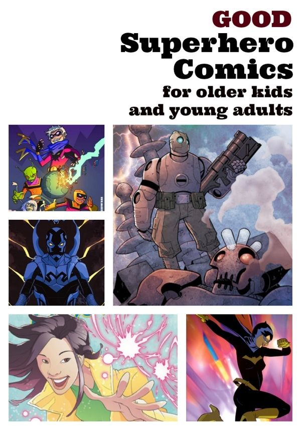 Good Superhero Comics for Older Kids & Young Adults - graphic novel recommendations from a mom - Planet Jinxatron