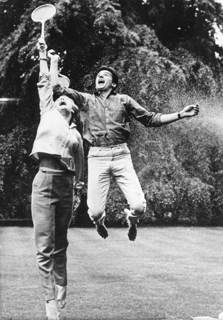 Alain Delon and Romy Schneider, 1961