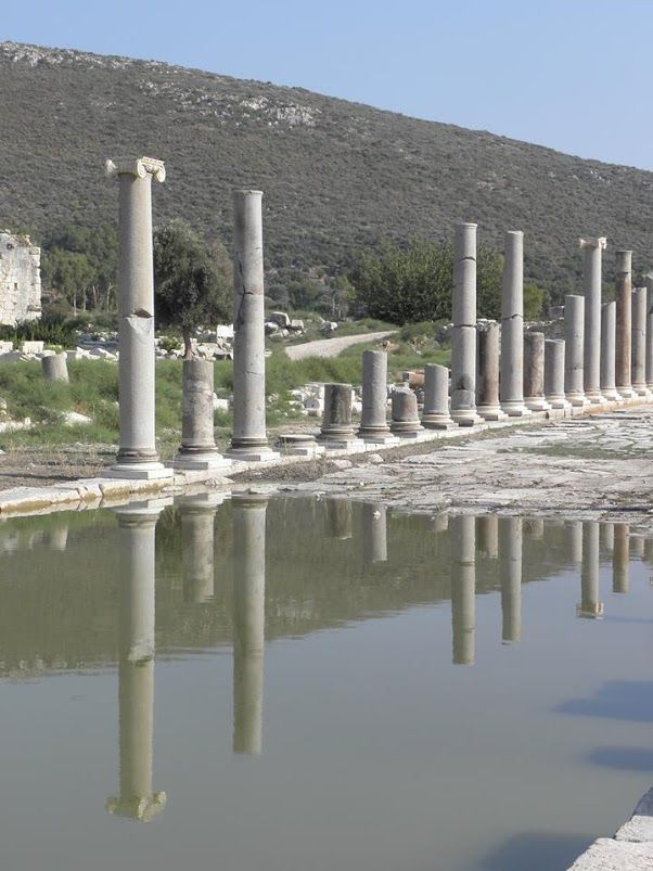 Columns lining the Roman main street at the magnificent site of #Patara #Turkey