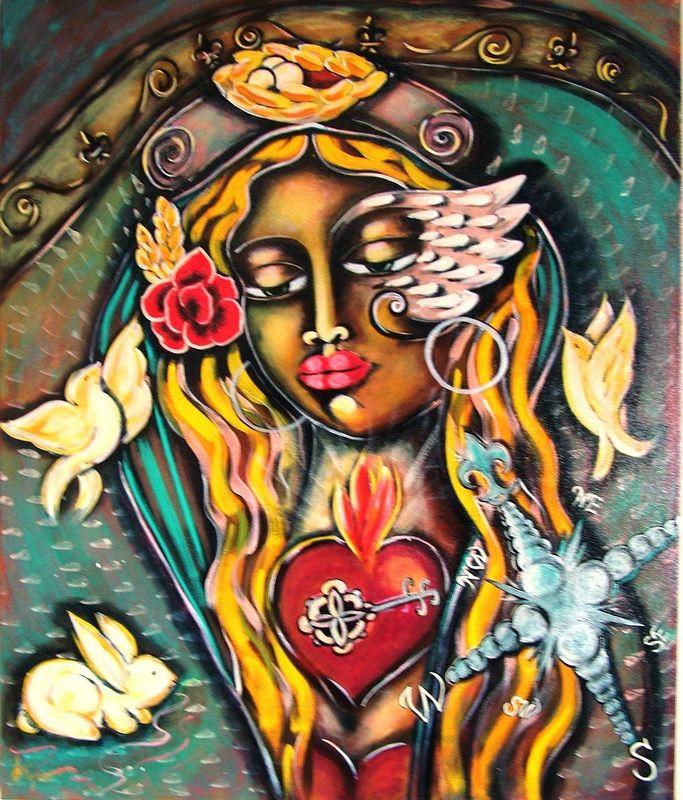 """Legendary Woman"". Painted using Intentional Creativity Method - Acrylic on canvas  ART of Sisterhood"