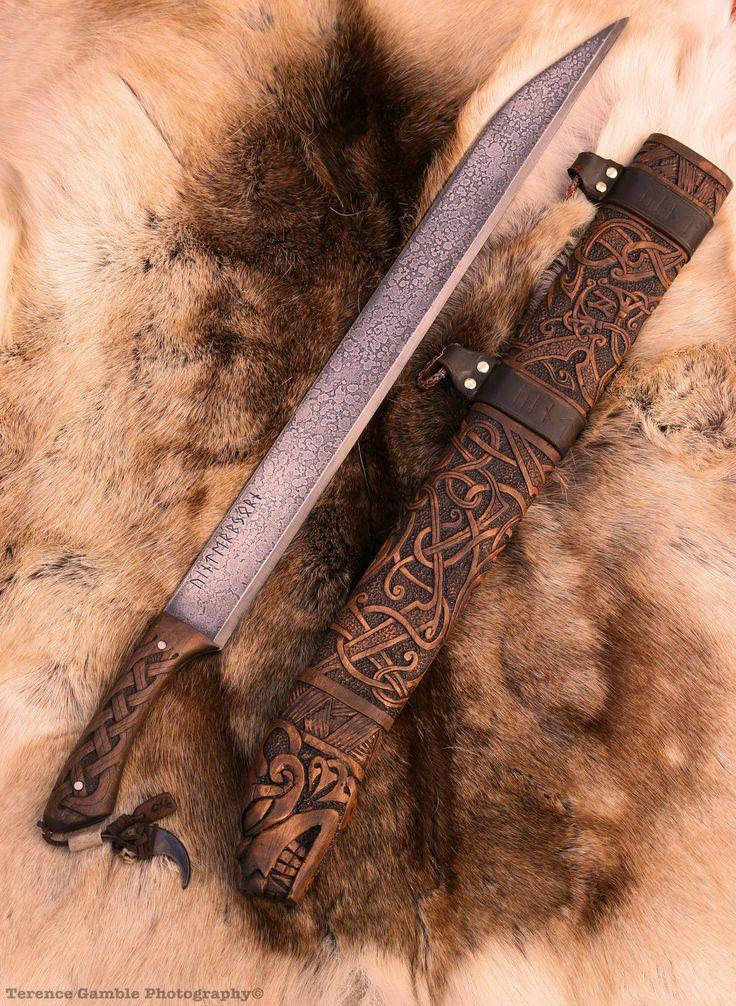 Vinterbjörn- viking long seax sword / knife. $2,800.00, via Etsy.