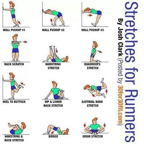 stretches for runners  diet and exercise  pinterest