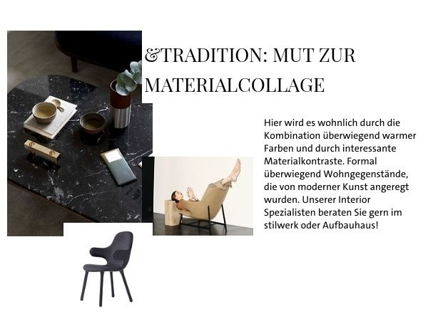 &tradition: Mut zur Materialcollage