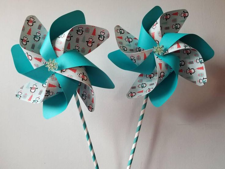 Excited to share the latest addition to my #etsy shop: Set of 2 limited edition winter penguin themed spinning handmade pinwheels teal centerpiece favor decor party gift snowflakes light blue #papergoods #blue #winter #red #penguin #handmade #teal #centerpiece #decor http://etsy.me/2obLU1C