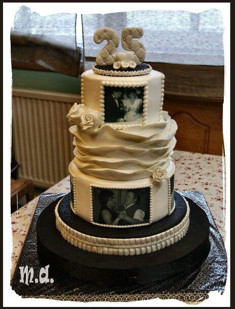 tarta bodas de plata