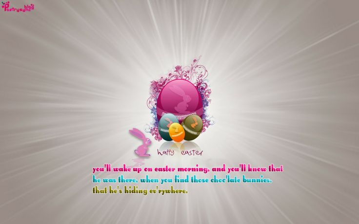 Happy Easter Greeting Eggs Messages SMS Wallpaper