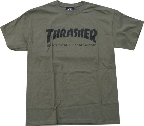 Thrasher Skate Mag Ss Xl-Army/Blk