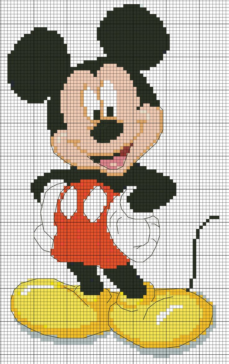 Cross stitch- Mickey Mouse