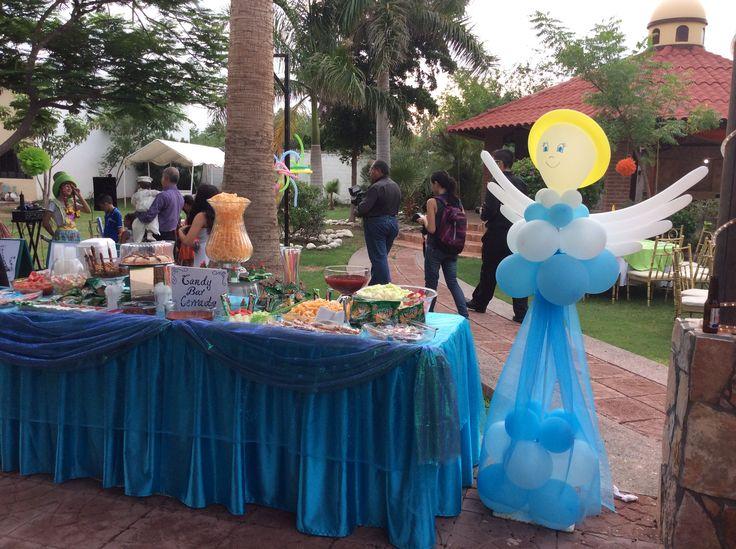 Mesa de golosinas bautizo por decoraci n de eventos norma for Decoracion fiesta bautizo