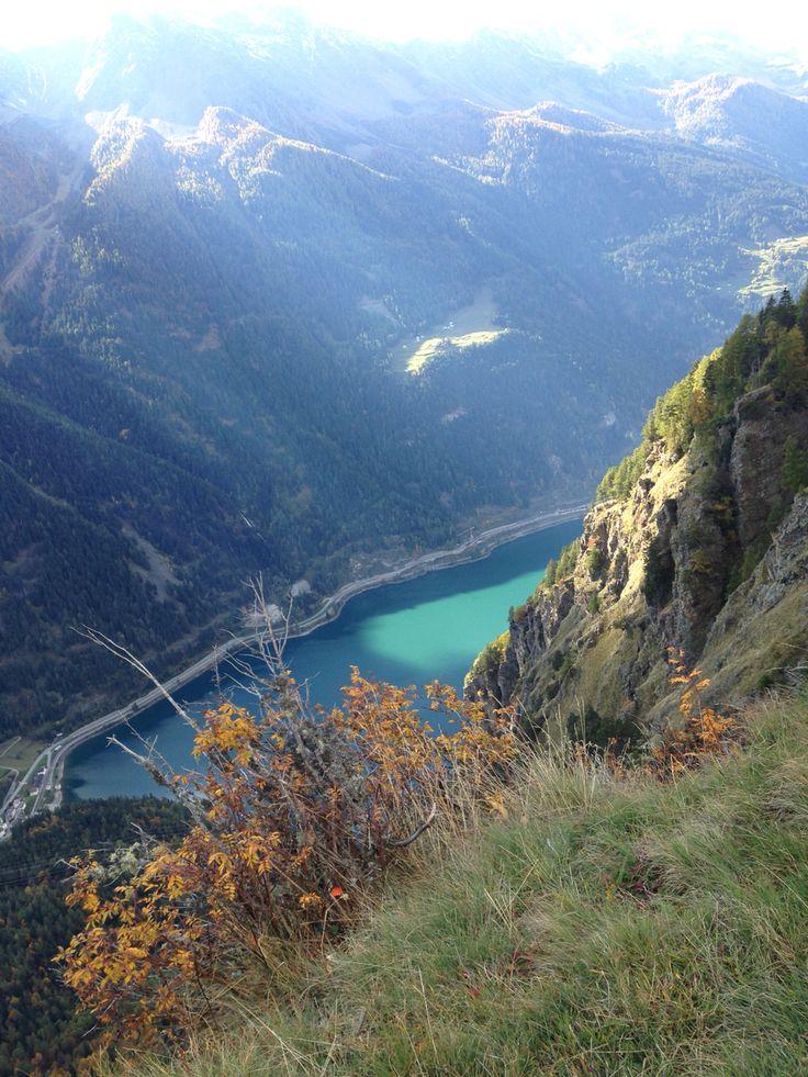 Lago di Poschiavo , vista da San Romerio , splendido !