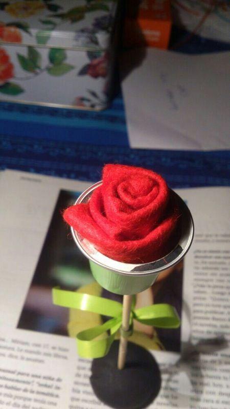 Rosa amb càpsula Nespresso