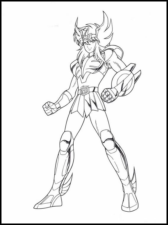 Printable Coloring Pages For Kids Saint Seiya Knights Of
