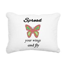Spread your wings and fl Rectangular Canvas Pillow