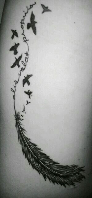 """My new ink is all healed and I love love live it!...thank you BH from Needlewurks! Ali volat propriis...""""she flies with her own wings"""" :)"""