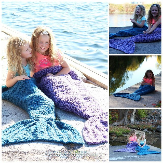 Mermaid Fish Tail Blanket Crocheted Soft Knitted Sleeping Bag Bed Sofa for Kids #Unbranded #Holiday