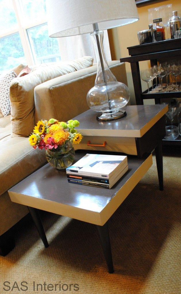 Two-Toned Retro Side Table, from SAS Interiors