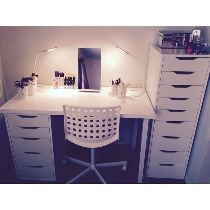 My makeup storage Alex draws IKEA  Glam room Makeup storage ideas