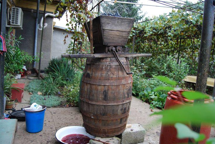 Home wine making in Moldova