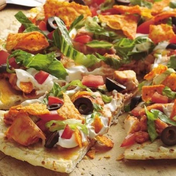 "Prebaked crust + rotisserie chicken + a few toppers = your new favorite—and oh-so-easy—pizza. ""Very easy to make and my family absolutely loved it!"" says Betty member Proudarmywife09. If you're planning on reheating any of the pizza, leave off the lettuce and sour cream; you can let your family add that on once the pizza's heated up!"