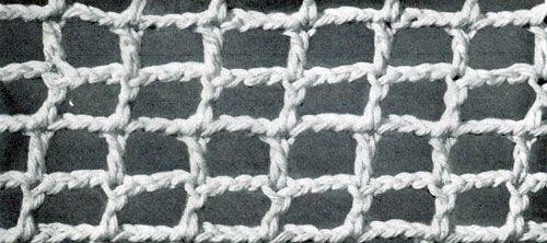 Crochet Net Stitch Patterns : Square Mesh Stitch Free Crochet Patterns
