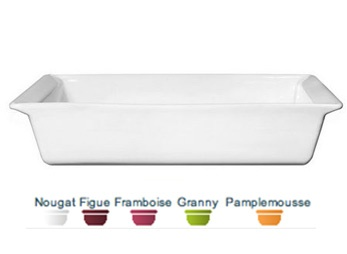 """Rectangular Baking Dish. 15"""", 3.5 qt. Ideal for baking desserts or entrees, this rectangular baking dish is a functional and stylish. The simple, yet classic shapes of the pieces are further emphasized by the urban colors and deep hues of the glazes.   Herma's price: $69.99. To order call 905·885·9250. (Prices subject to change without notice)"""