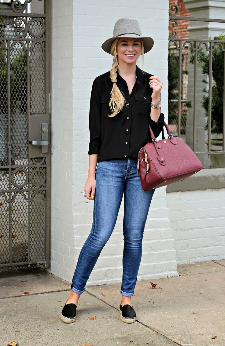 43 Best Images About Black Espadrilles Outfits On Pinterest | Flats Beige Trench Coat And Black ...
