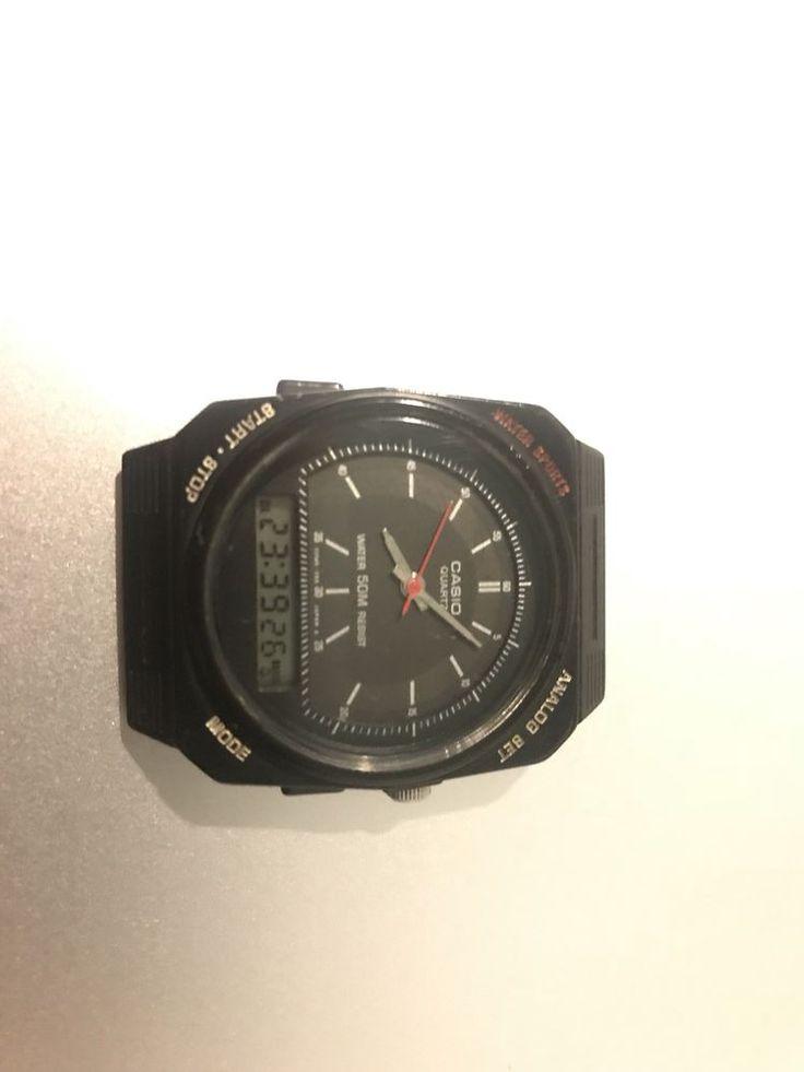 Casio AQ-33W mod 307 very rare vintage Analog Digital Dual Face Watch  | eBay