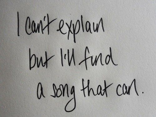This is what I love about music. There's a song for every situation.