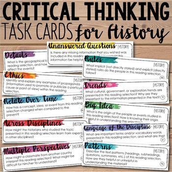 History of critical thinking skills