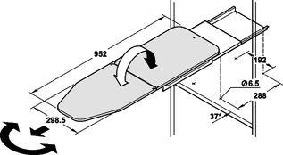 Häfele e@sy link online catalogus - Meubelbeslag - Keukeninrichting - Nisinrichting - Strijkplanken - Strijkplank Ironfix dwars voor inbouw