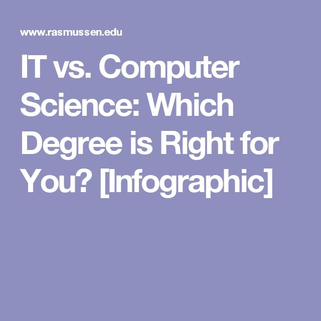IT vs. Computer Science: Which Degree is Right for You? [Infographic]