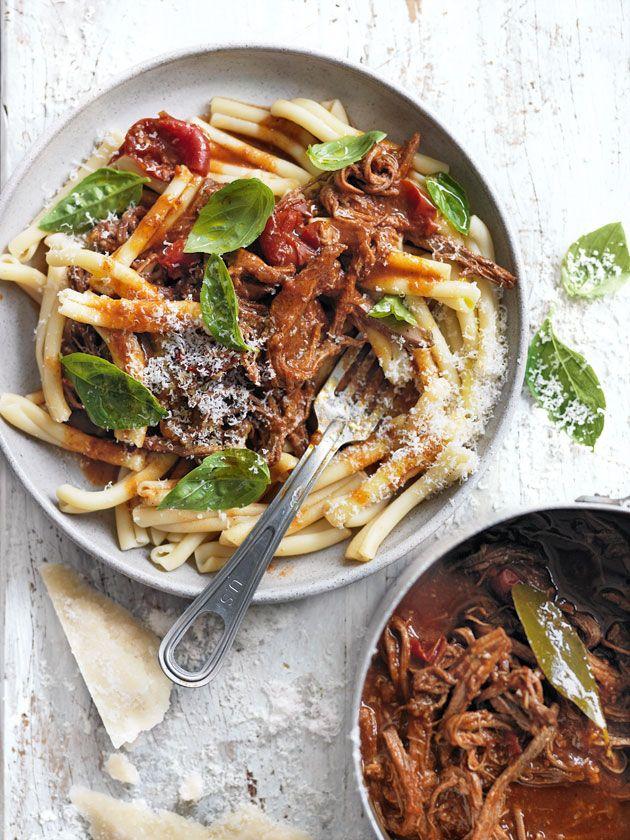 slow-cooked beef ragu pasta