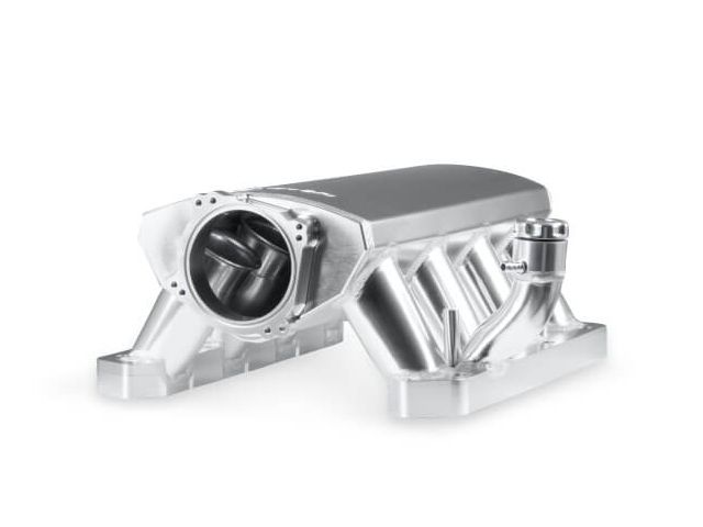Holley Efi Sniper Efi 90mm Sheet Metal Fabricated Intake Manifold Silver 2009 2020 Chrysler 5 7l 6 1l 6 4l Hemi 837251 Holley Efi Hemi Metal