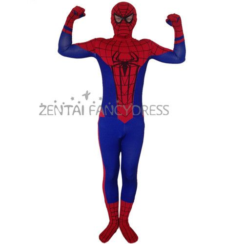Hot Sale 2014 New The Amazing Spiderman 2 Lycra Spandex Zentai Suit