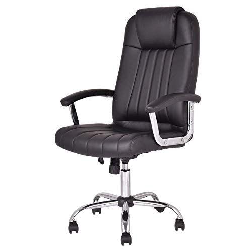 Pu Leather High Back Modern Swivel Executive Office Chair